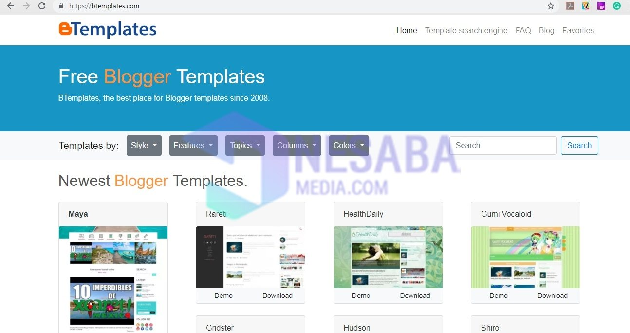 how to change the blog template on btemplates