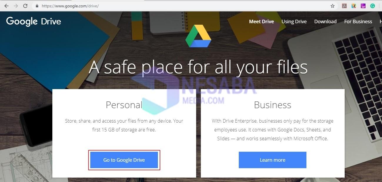 Cara Download File di Google Drive Lewat Laptop