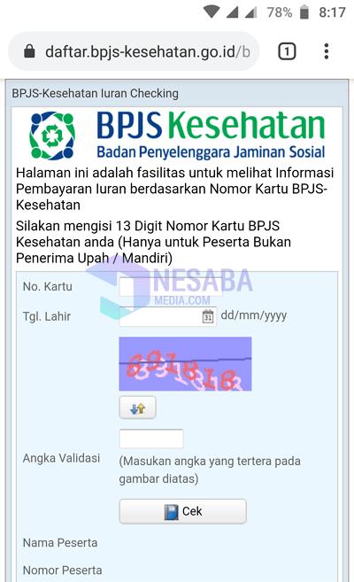 cek tagihan bpjs 1