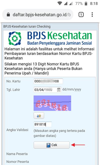cara cek tagihan BPJS Kesehatan Online