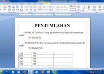 cara menjumlahkan di Microsoft Word