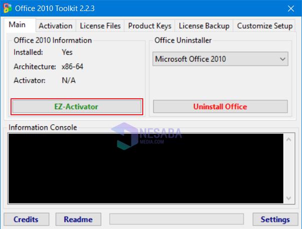 proses aktivasi office 2010 - langkah 2