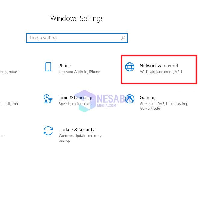 Cara Setting Proxy Server di Windows 10 Melalui Network & Internet