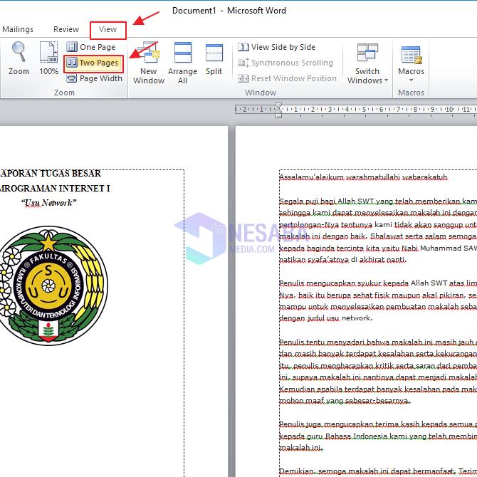 Cara Membuat Section Break di Ms. Word