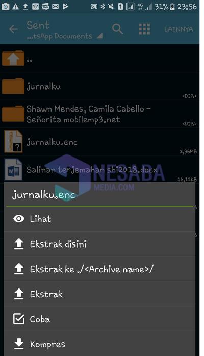 ekstrak file enc
