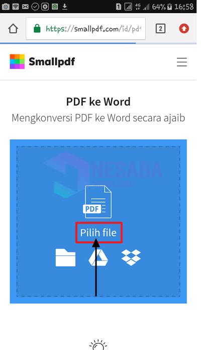 pilih file pdf