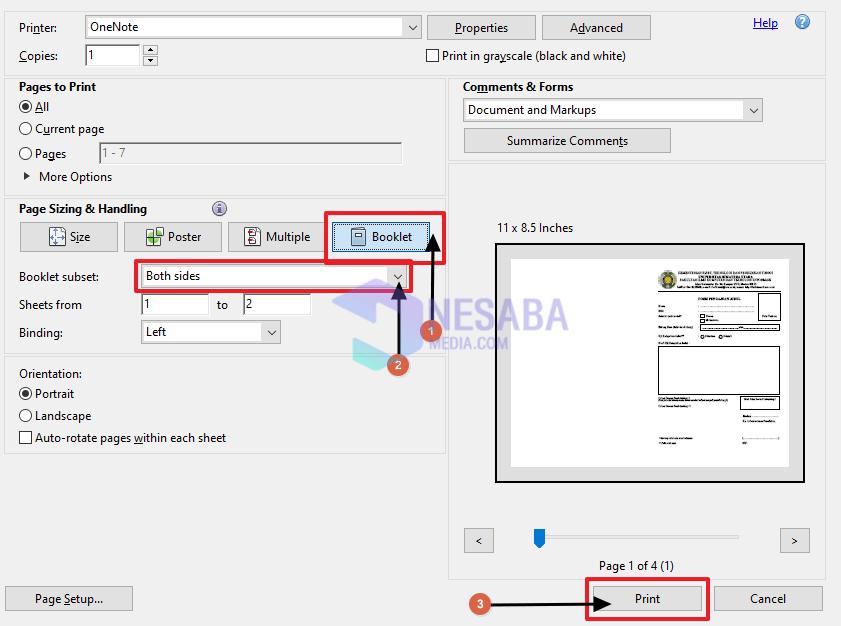 print bolak balik otomatis di pdf