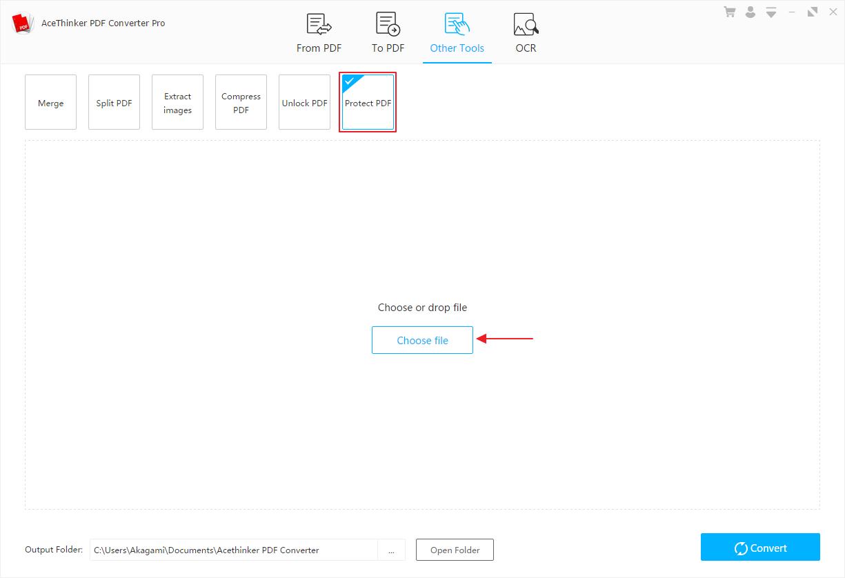 Acethinker PDF Converter Pro untuk Melindungi File PDF