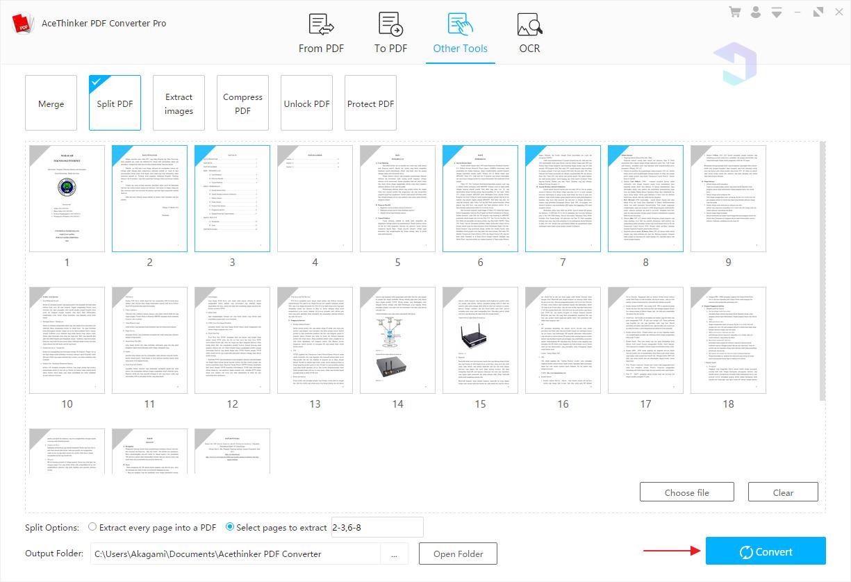 Memisahkan File PDF 2
