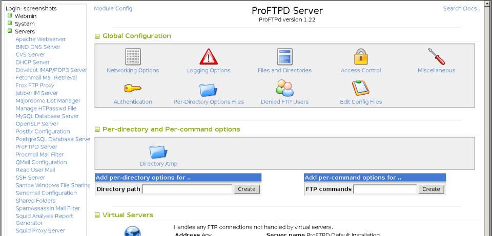 Aplikasi FTP Server (ProFTPD)