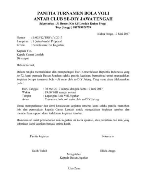 10 Contoh Surat Dinas Resmi Undangan Pemerintahan Dll