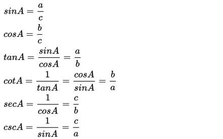 Rumus Trigonometri Sudut