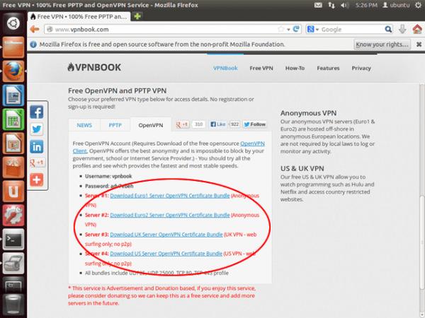 Situs Web Proxy VPNBook