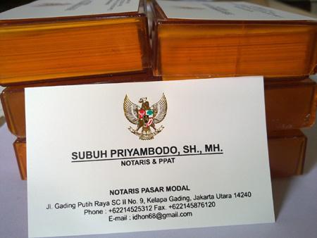 Contoh Kartu Nama Notaris