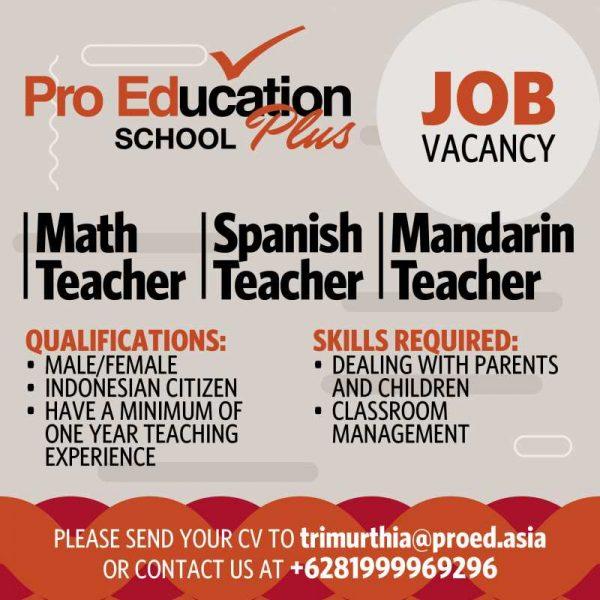 15 Contoh Job Vacancy Dalam Bahasa Inggris Baik Benar