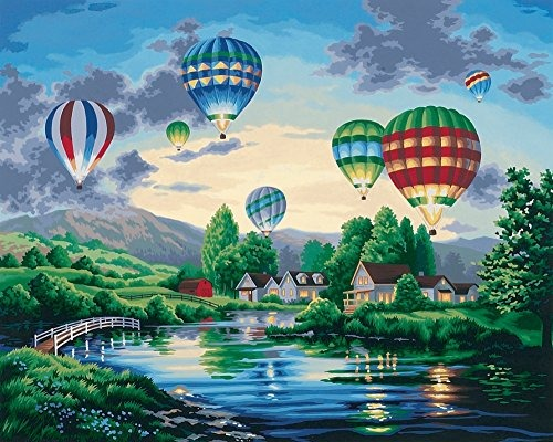 Pemandangan Indah Balon Udara