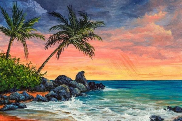 Tepian Pantai di Sore Hari