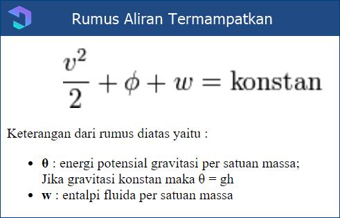 Rumus Bernoulli : Aliran Termampatkan