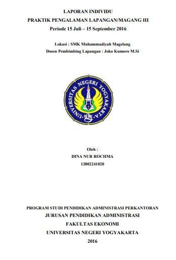 Contoh Laporan PKL Administrasi Perkantoran