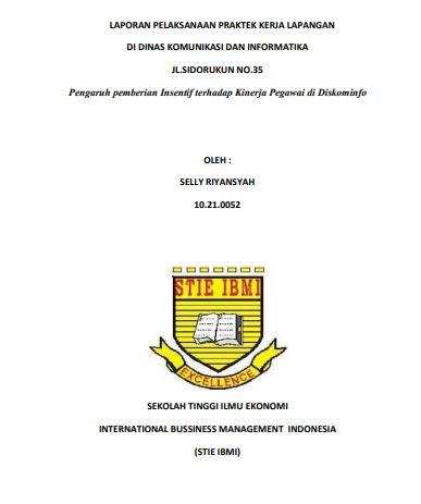 Contoh Laporan PKL Mahasiswa