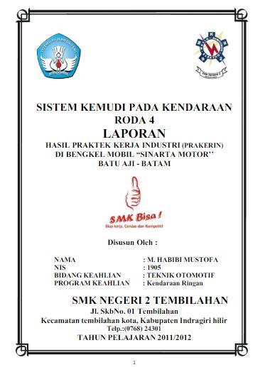 Contoh Laporan Pkl Smk Tkr Download Contoh Lengkap Gratis
