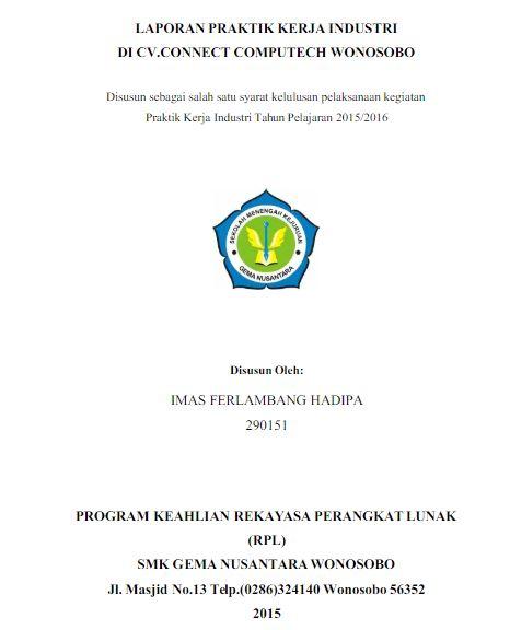 Contoh Laporan Pkl Jurusan Multimedia