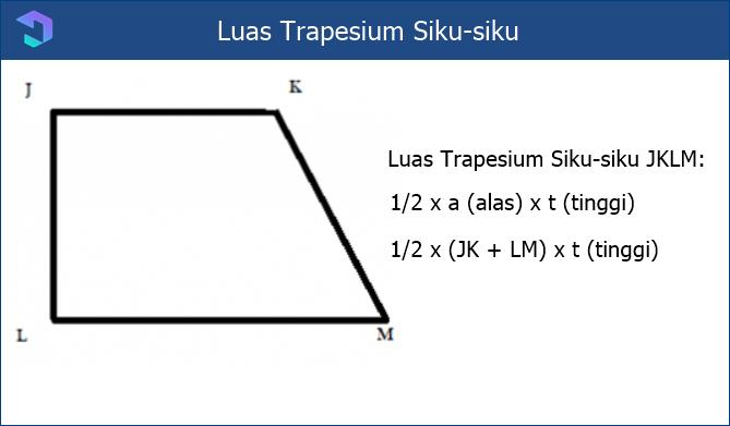 Rumus Luas Trapesium Siku-siku