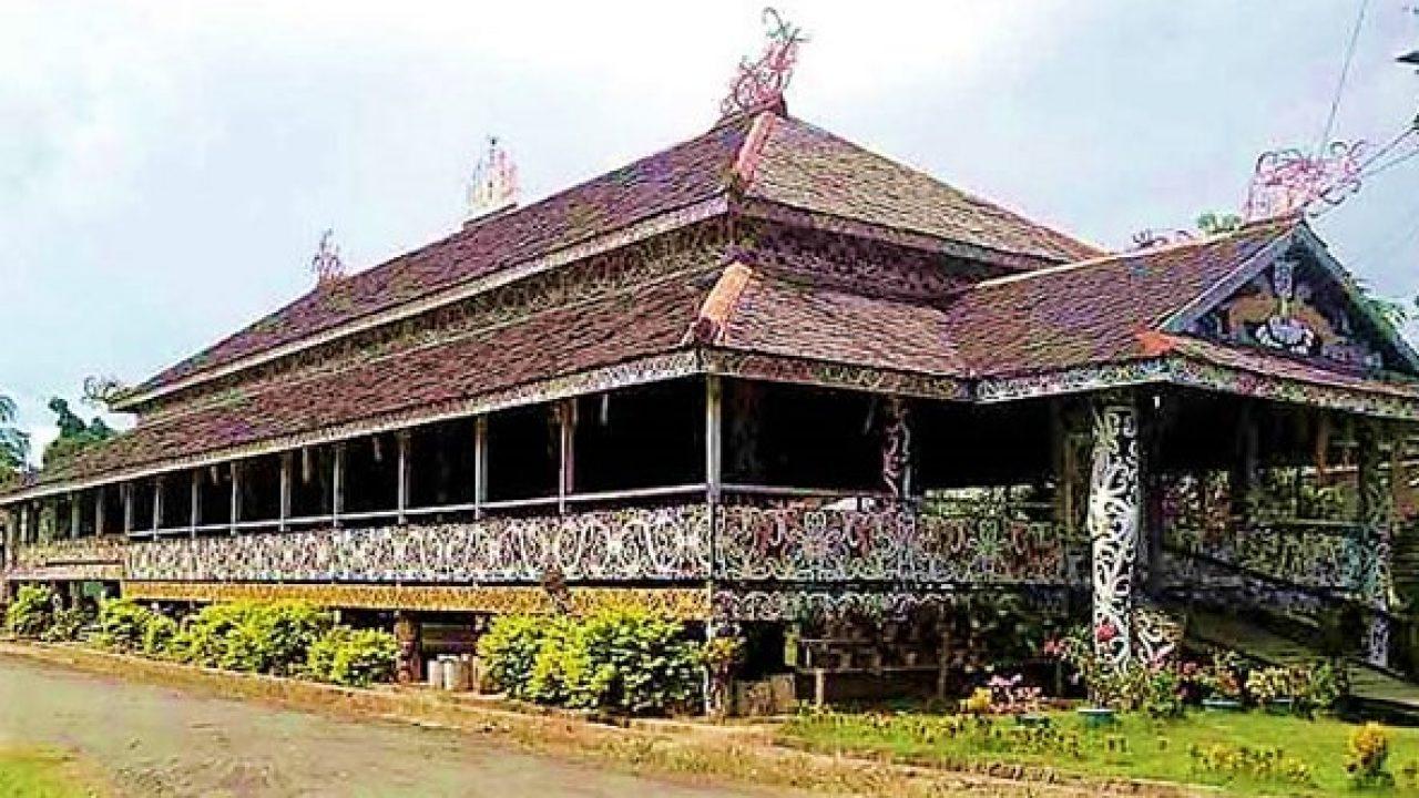 55 Gambar Mewarnai Rumah Adat Kalimantan Terbaik Koleksi