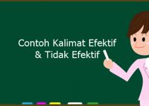 Contoh Kalimat Efektif dan Kalimat Tidak Efektif