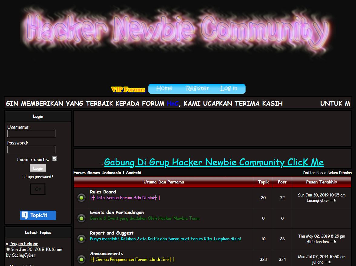 Hacker Newbie - Indonesian Hacker Site
