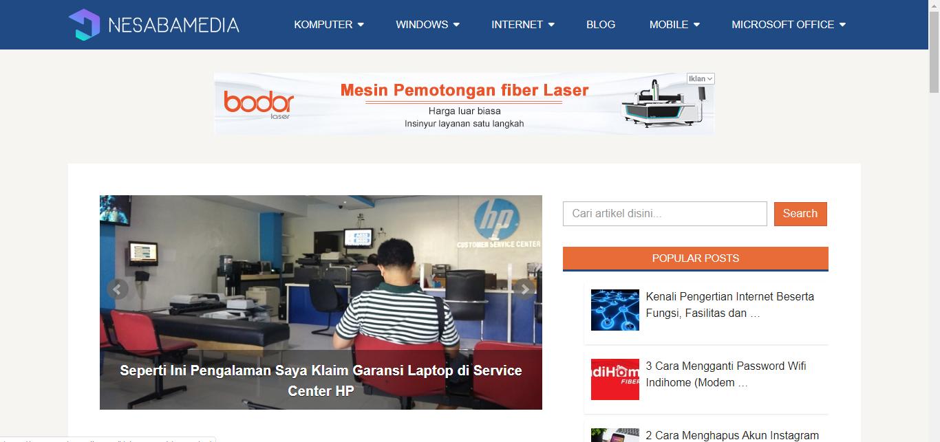 homepage Nesabamedia