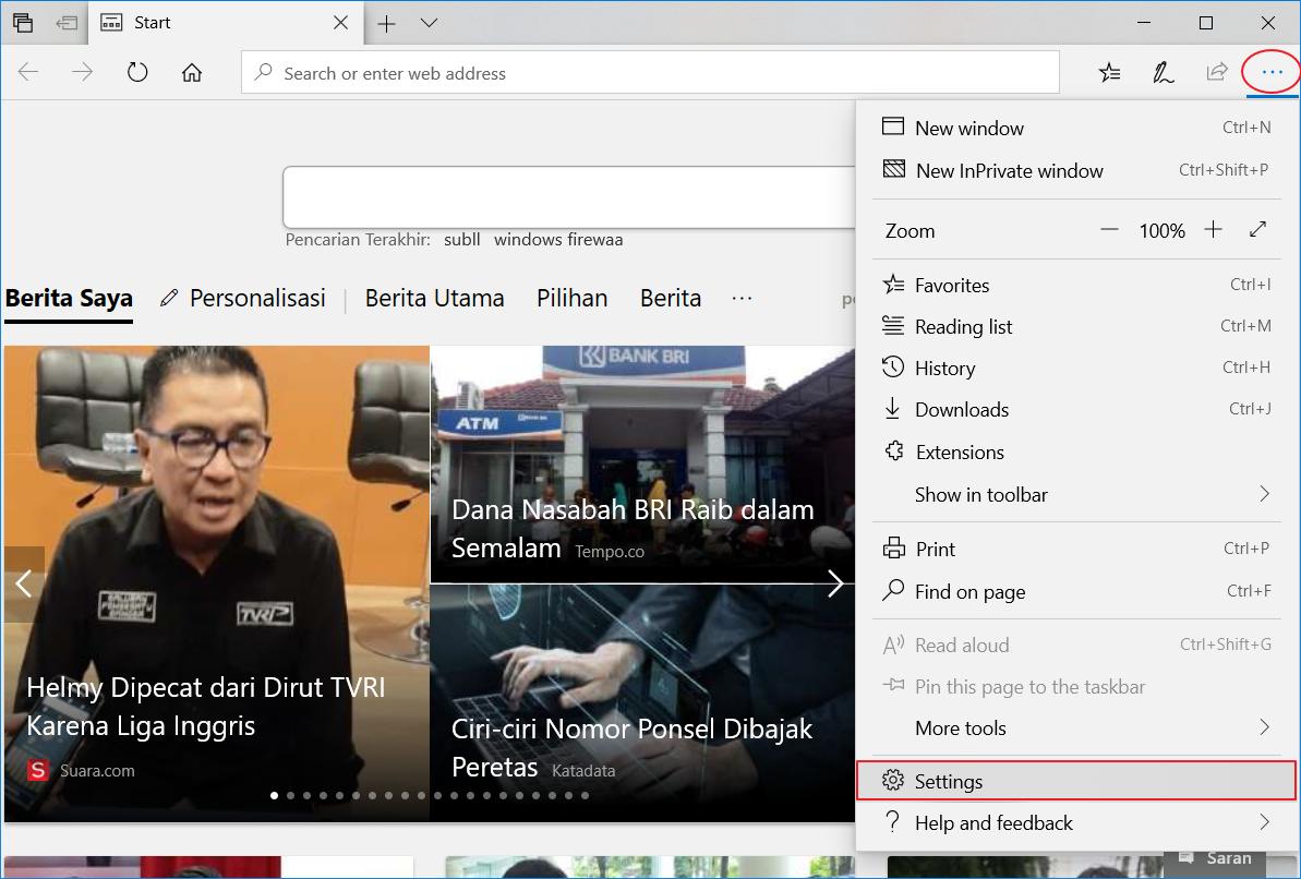 Mengaktifkan Dark Theme Microsoft Edge 1