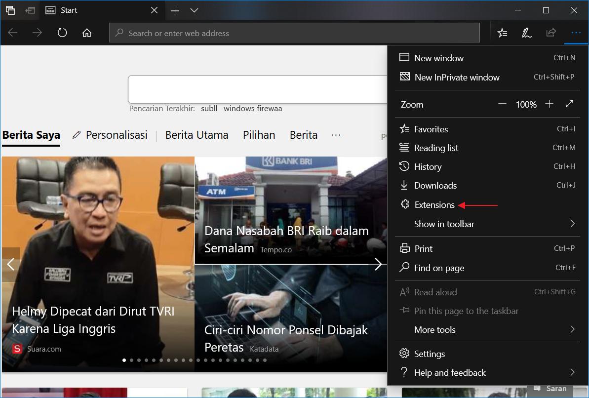 Mengaktifkan Dark Theme Microsoft Edge 4