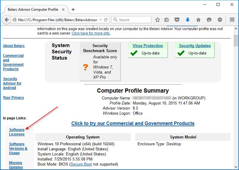 Download Belarc Advisor Terbaru