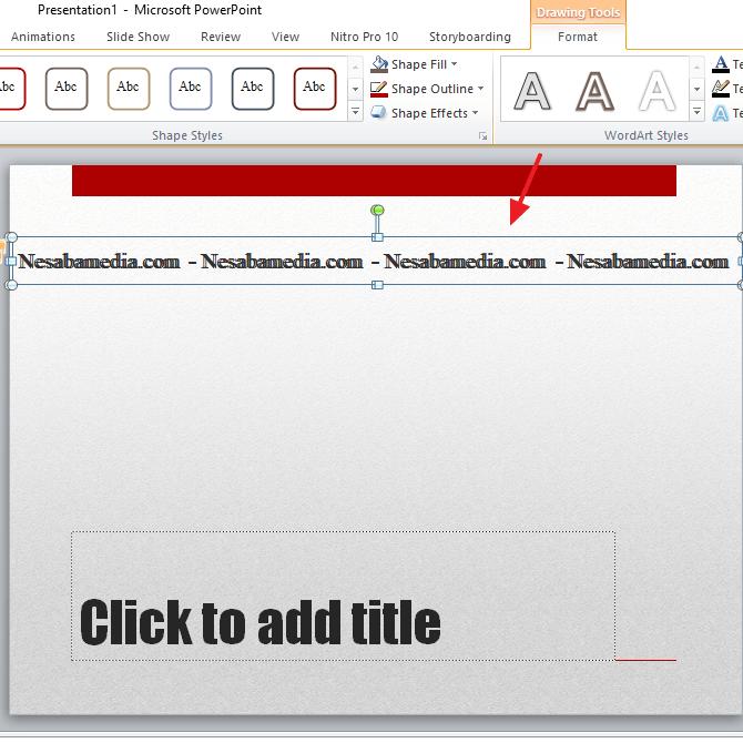 9. Cara Membuat Tulisan Berjalan di PowerPoint