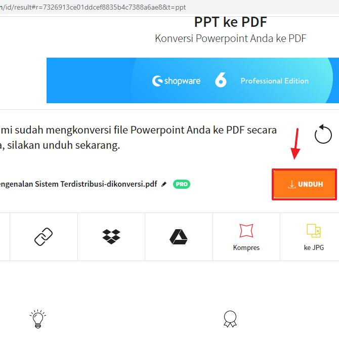 powerpoint to pdf