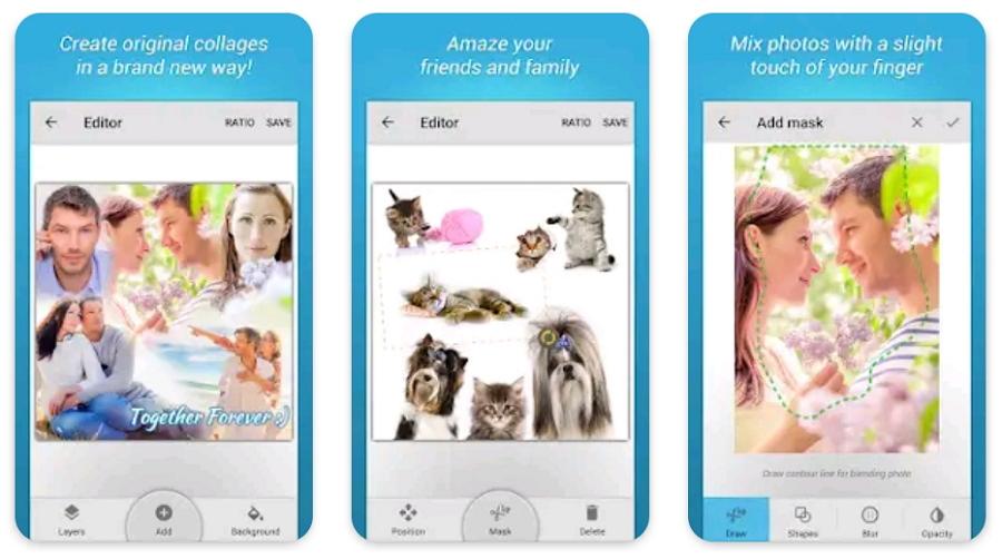 Aplikasi Penggabung Foto Blend Collage Free