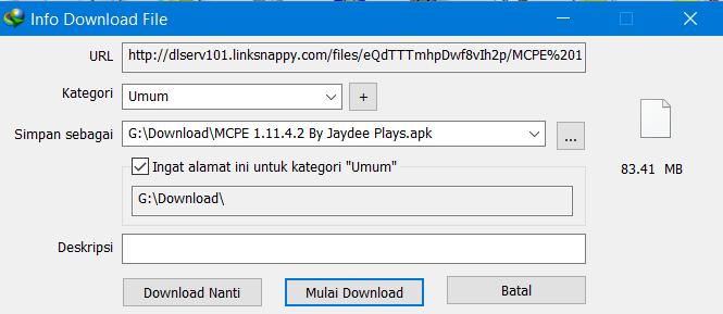 Cara Download File di Mega dengan IDM 6