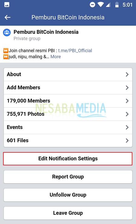 Mematikan Semua Notifikasi Grup Facebook 7