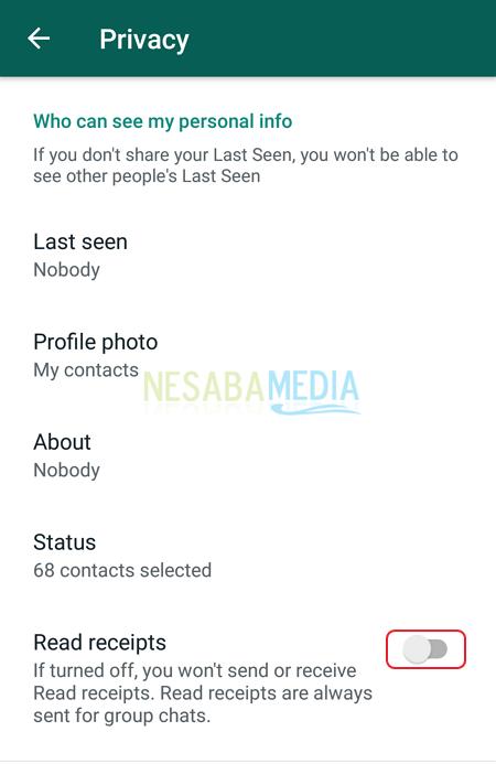 Menghilangkan Centang Biru di Whatsapp Nesabamedia 5