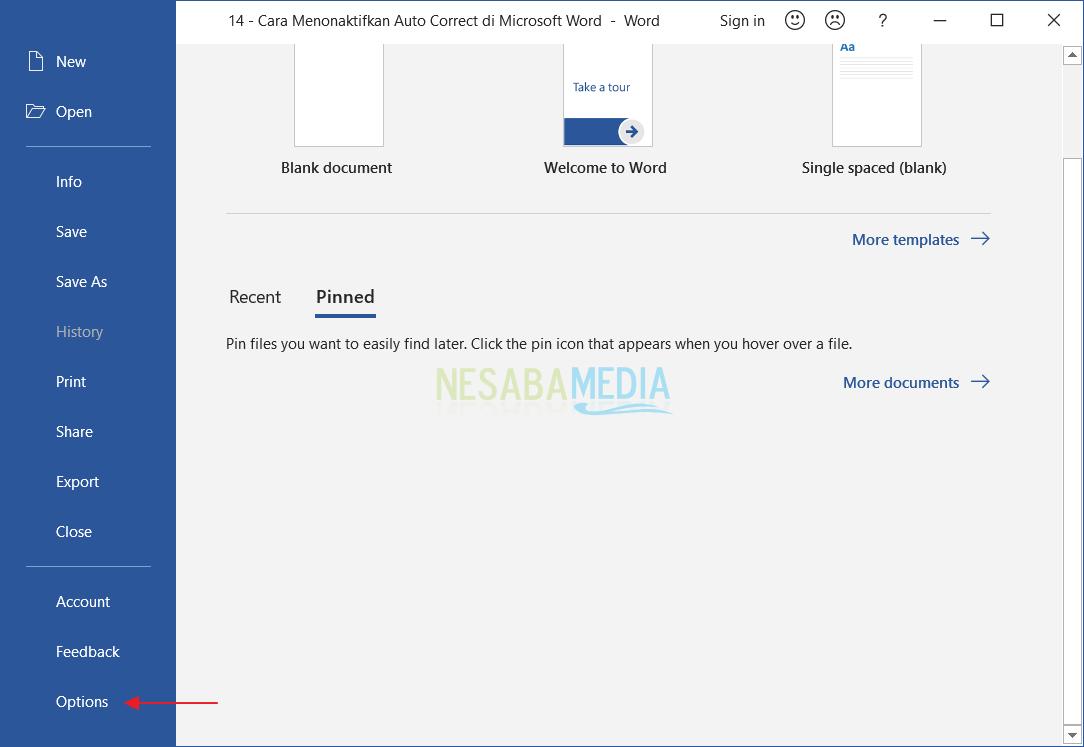 Menonaktifkan Auto Correct di Microsoft Word 2