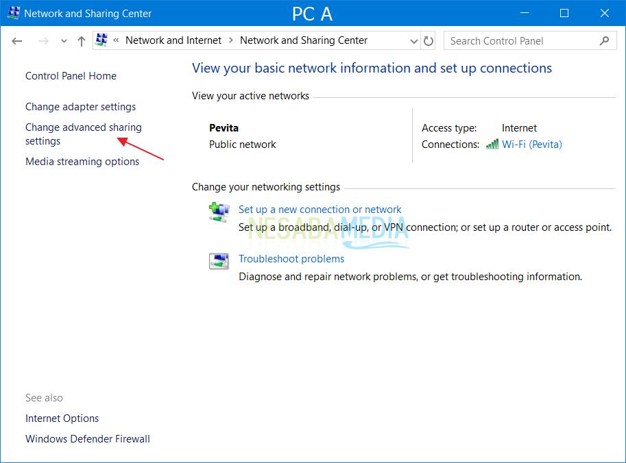 Setting PC A 1