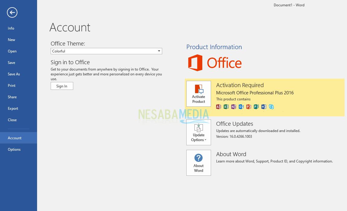 Aktivasi Microsoft Office 2016 - Part 1