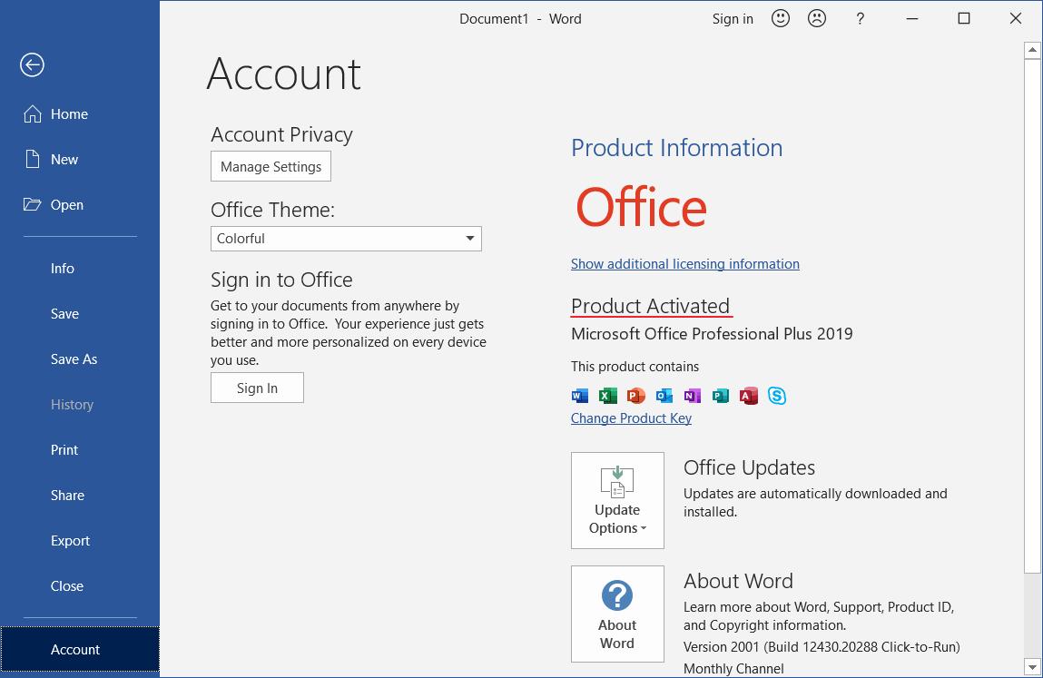 Cara Aktivasi Microsoft Office 2019 Gratis