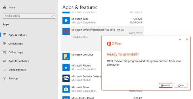Cara Uninstall Microsoft Office