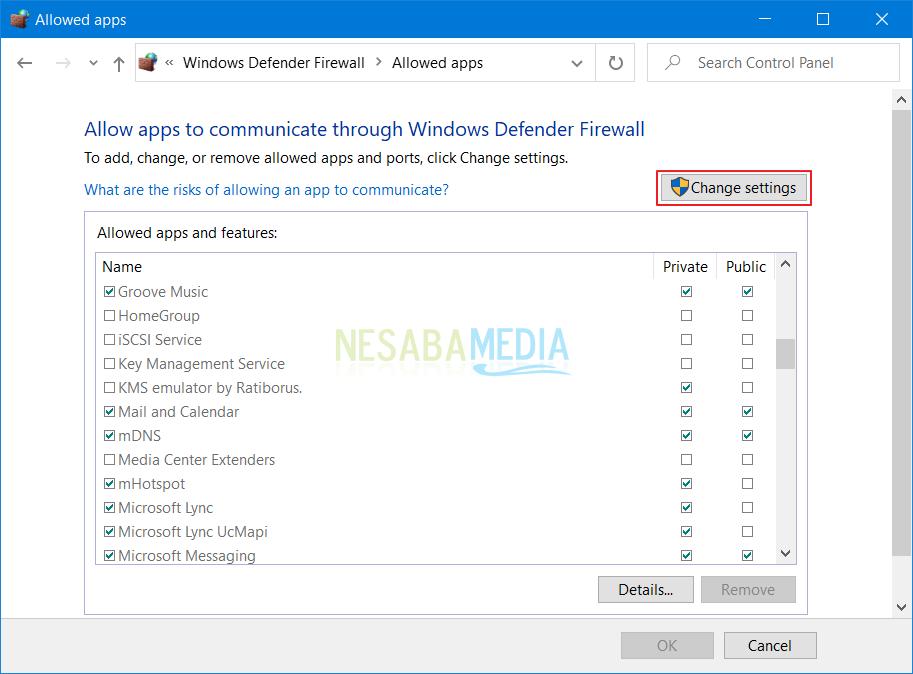 cara mengatasi Windows Firewall has block some features of this program windows 10