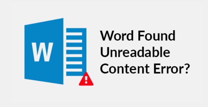 Cara Mengatasi Word Found Unreadable Content