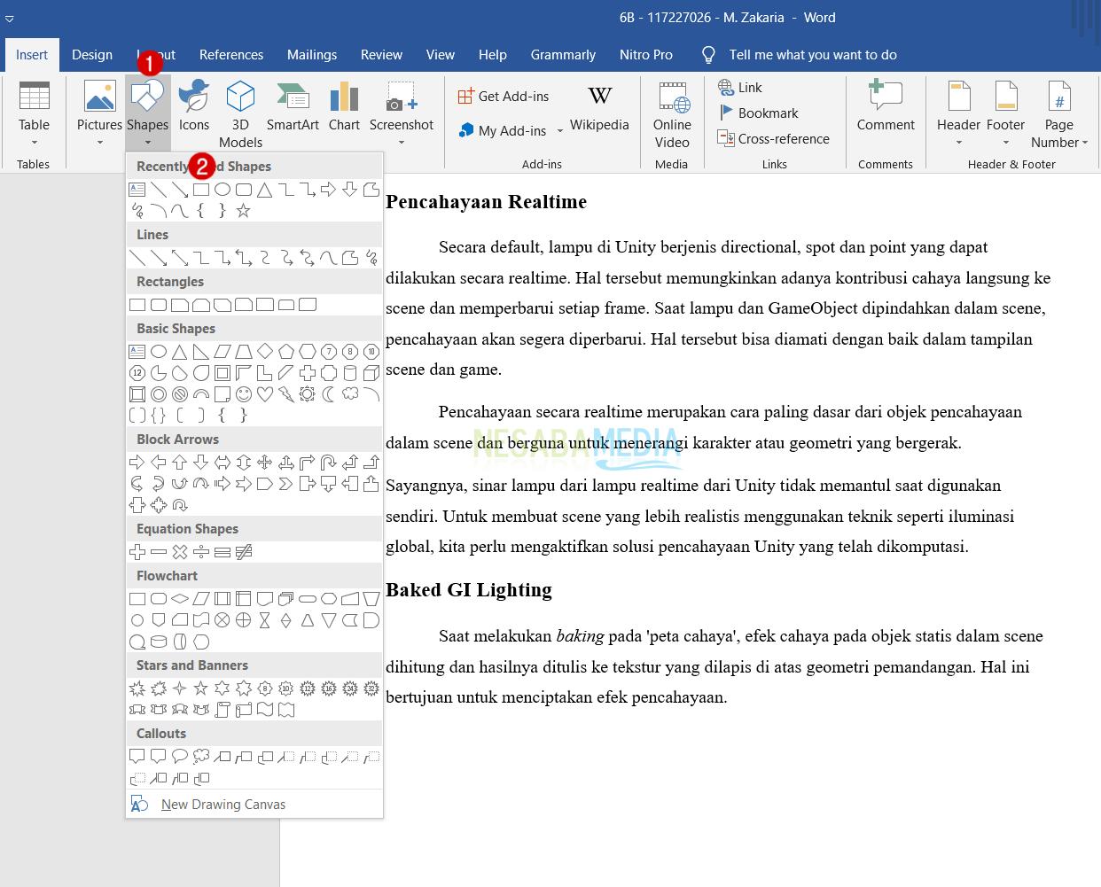 Membuat Gambar di Word Jadi Transparan 1