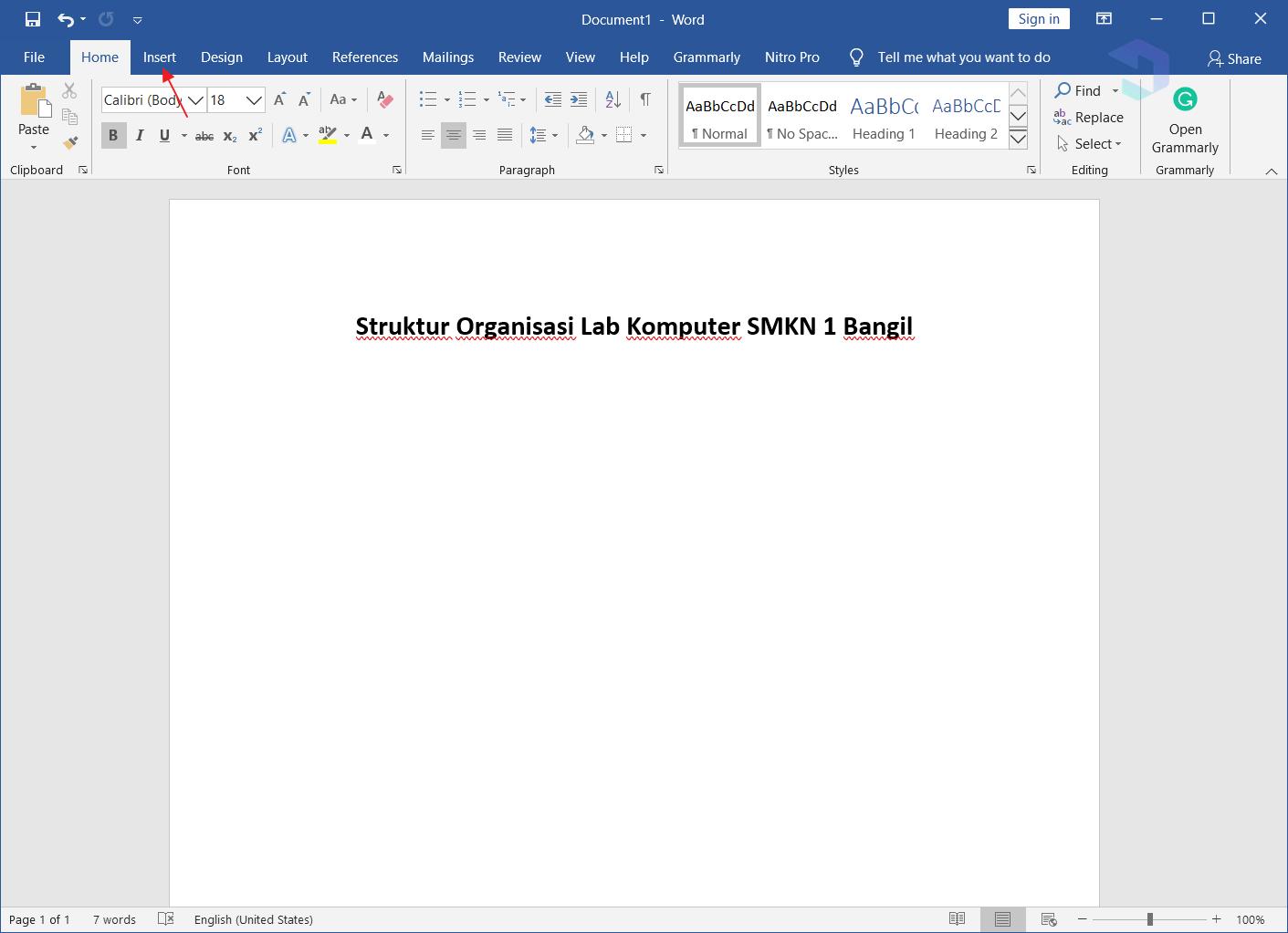 cara membuat struktur organisasi di word secara manual