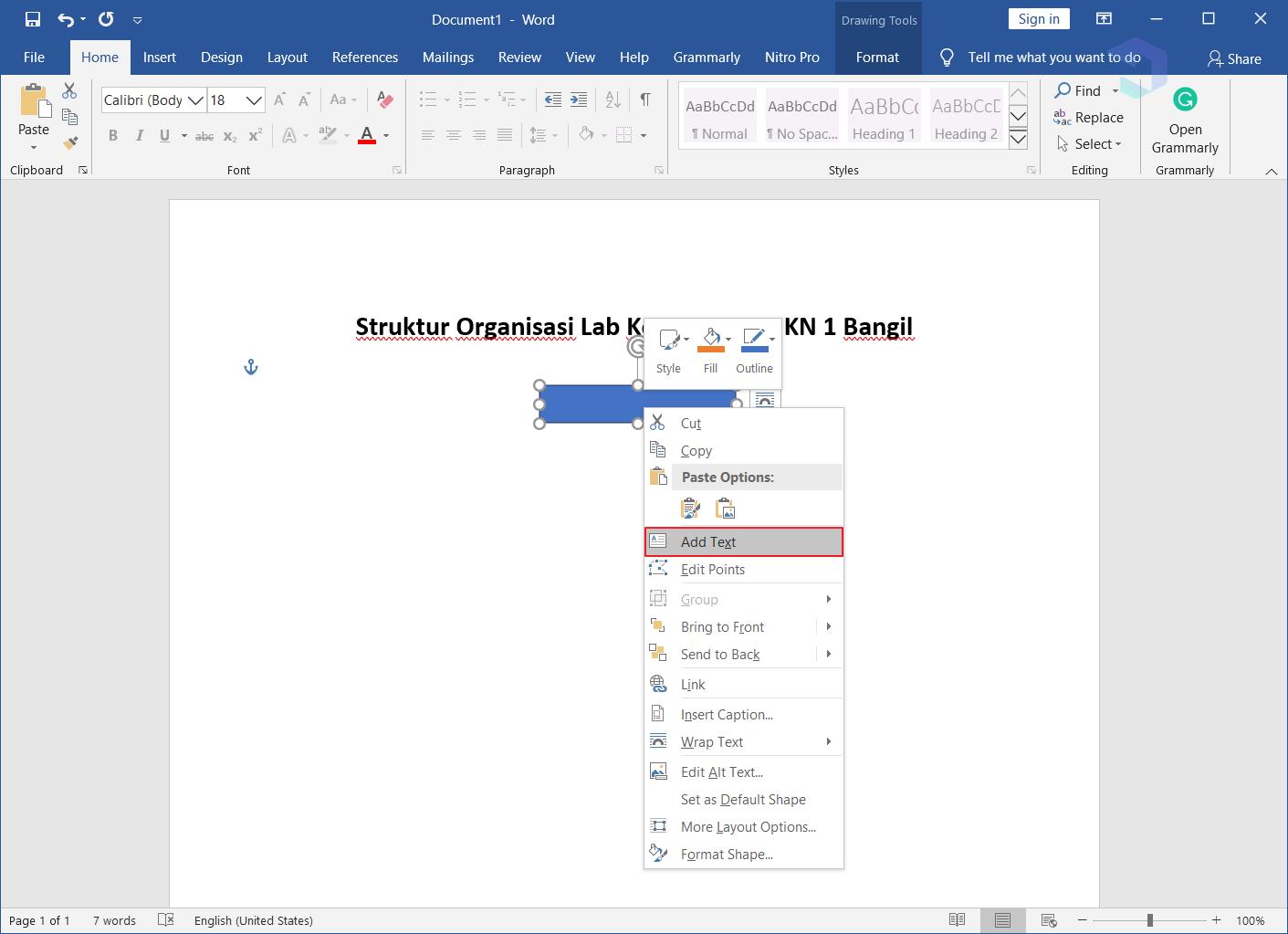 Membuat Struktur Organisasi di Word 3